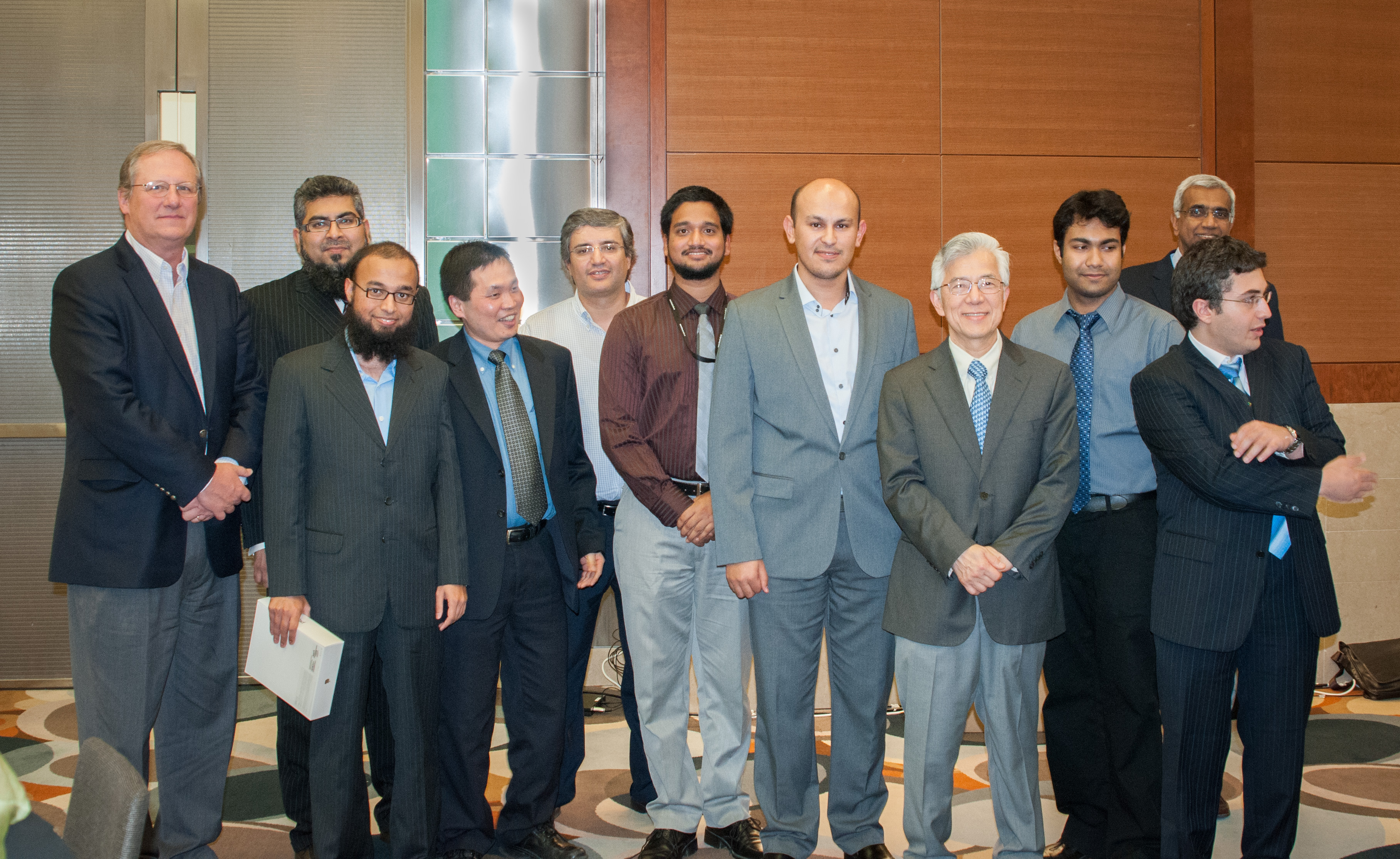 Mahdi Ben Ghorbel And The Prize Winners In EE Days With Some EE Faculty And The President