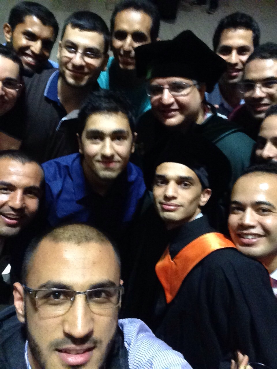 Professor Alouini in a Selfie with KAUST students during Commencement 2015