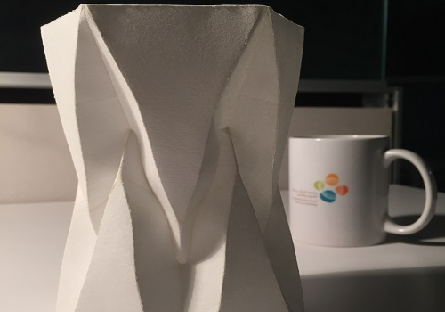 CEMSE AMCS Freestanding Folded Structure Made From Single Sheet Of Paper