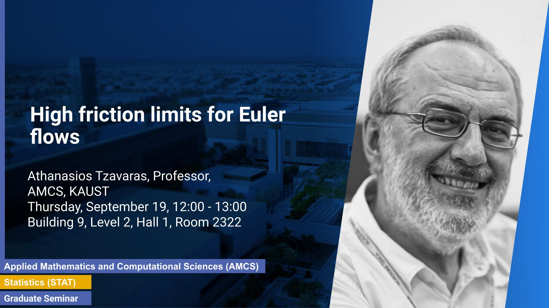 KAUST CEMSE AMCS Graduate Seminar Athanasios Tzavaras High friction limits for Euler flows