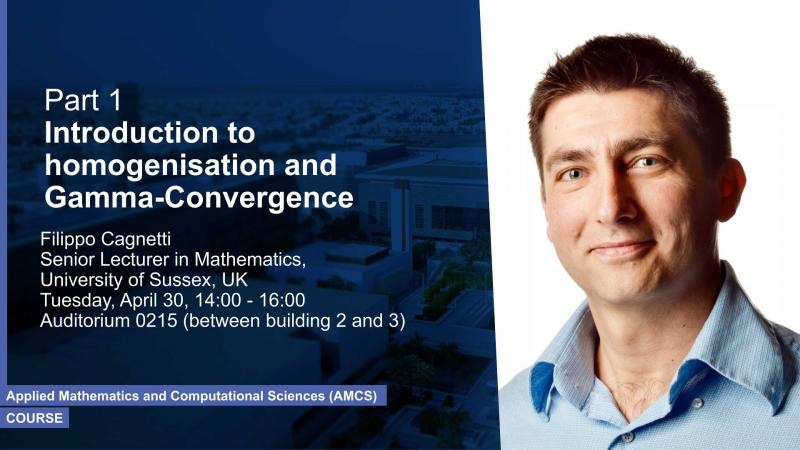 KAUST CEMSE AMCS Course Part 1 Filippo Cagnetti