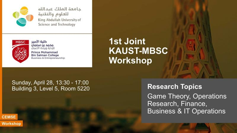 1st Joint KAUST-MBSC Workshop (2019)