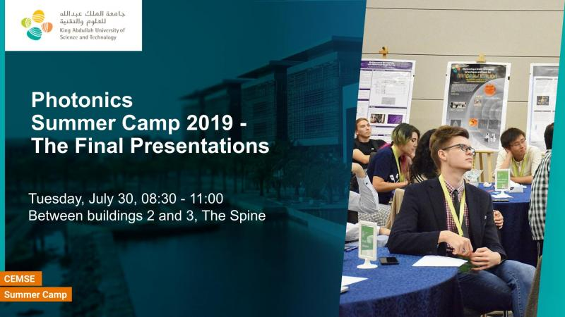 KAUST CEMSE Final Presentations Photonics Summer Camp 2019