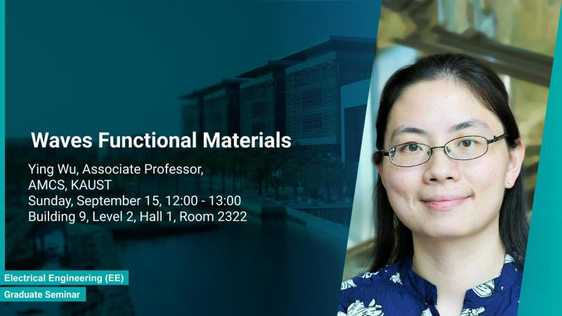 KAUST CEMSE AMCS Graduate Seminar Ying Wu Waves Functional Materials
