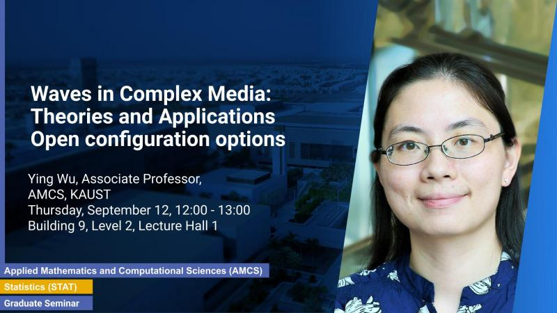 KAUST CEMSE AMCS STAT Graduate Seminar Ying Wu waves in complex media