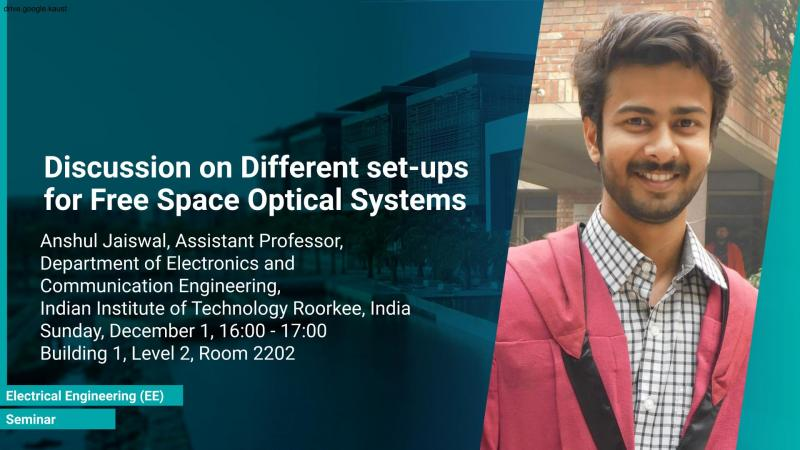 KAUST CEMSE EE Seminar Jaiswal Free Space Optical Systems
