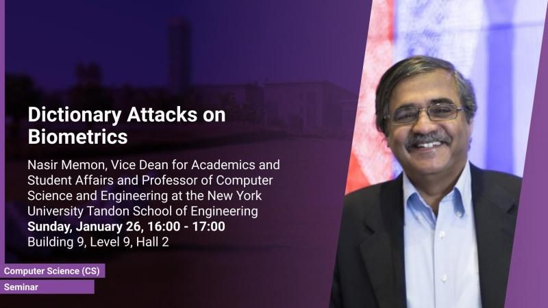 KAUST CEMSE CS Seminar Nasir Memon dictionary attacks on biometrics