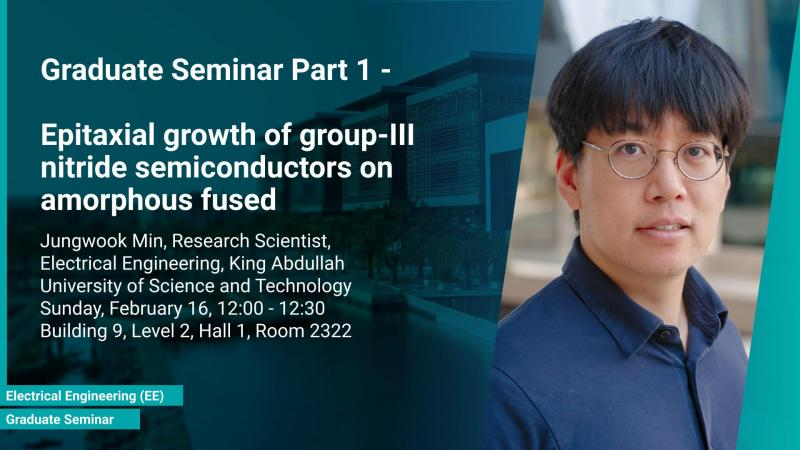 KAUST CEMSE EE Graduate Seminar part 1 Jungwook Min Epitaxial growth of group-III nitride semiconductors on amorphous fused