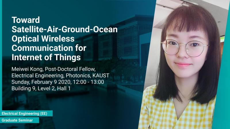 KAUST CEMSE EE Photonics Graduate Seminar Meiwei Kong Satelite Air Ground Ocean Optical Wireless Communications for IoT