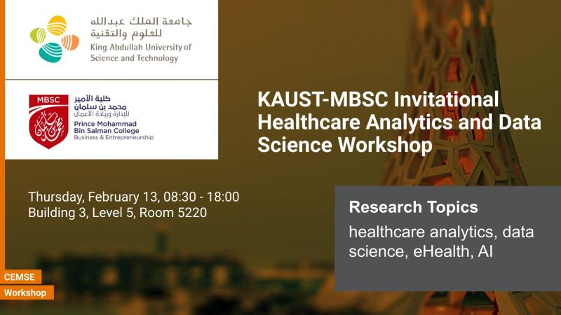 KAUST MBSC Invitational Healthcare Analytics and Data Science Workshop
