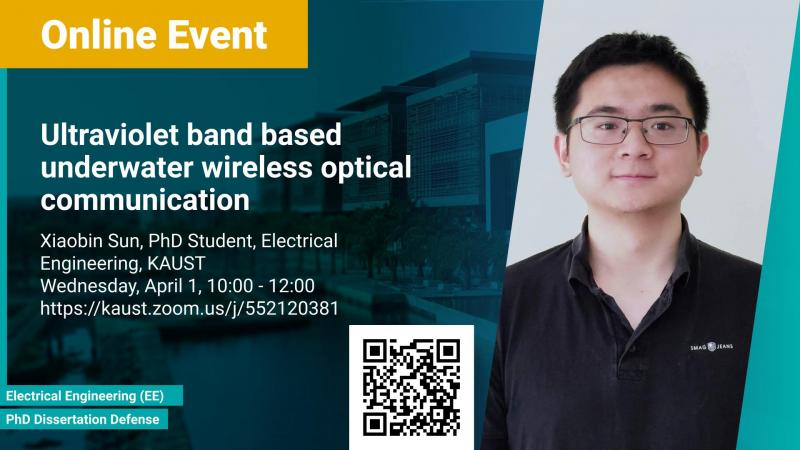 KAUST CEMSE EE PhD Dissertation Defense Xiaobin Sun Ultraviolet band based underwater wireless optical communication