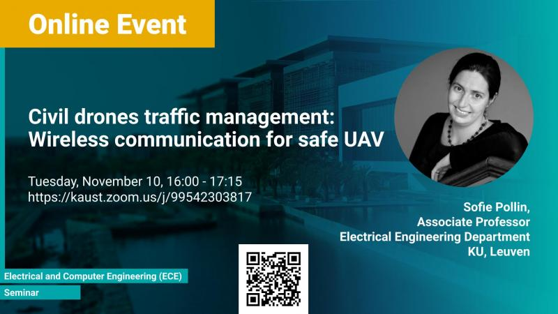 KAUST CEMSE Seminar Sofie Pollin Wireless communication for safe UAV