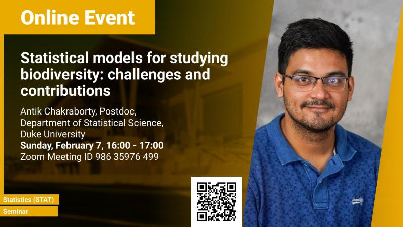 KAUST CEMSE STAT Seminar Antik Chakraborty Statistical models for studying biodiversity: challenges and contributions