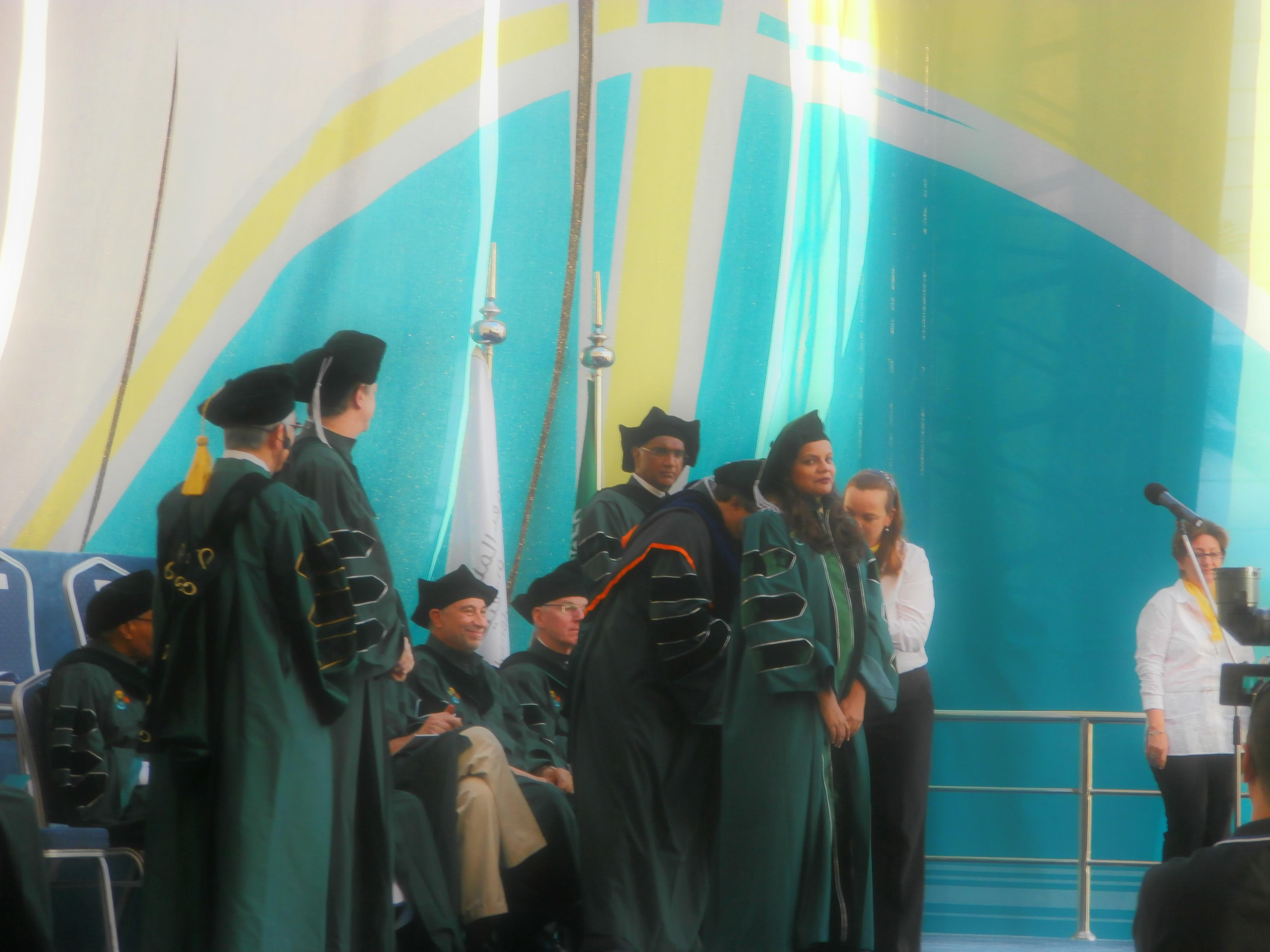 Hina Tabassum Being Awarded The Doctoral Hood By Professor Mohamed-Slim Alouini On Her Graduation