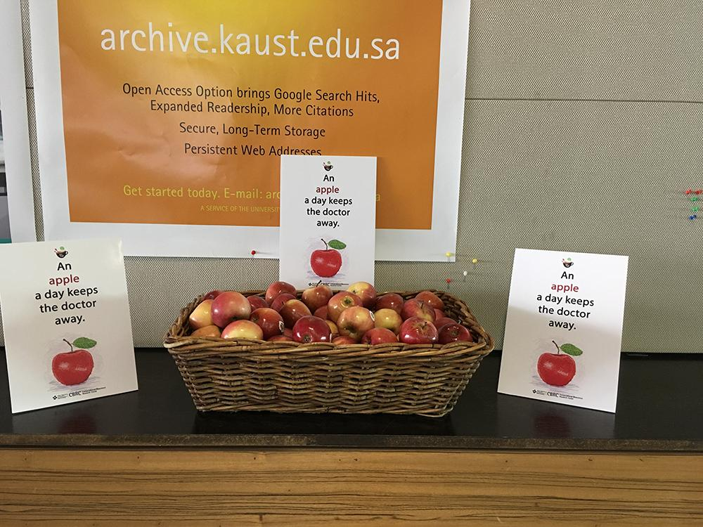 KAUST CEMSE CBRC Big Data And Human Health Apples Were Given At The End Of The Talk