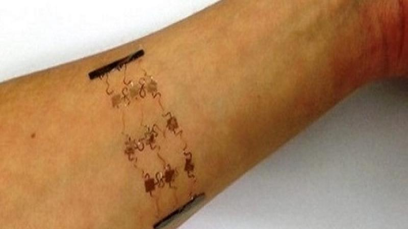 CEMSE EE Stretchable Copper Circuits Attached To The Skin