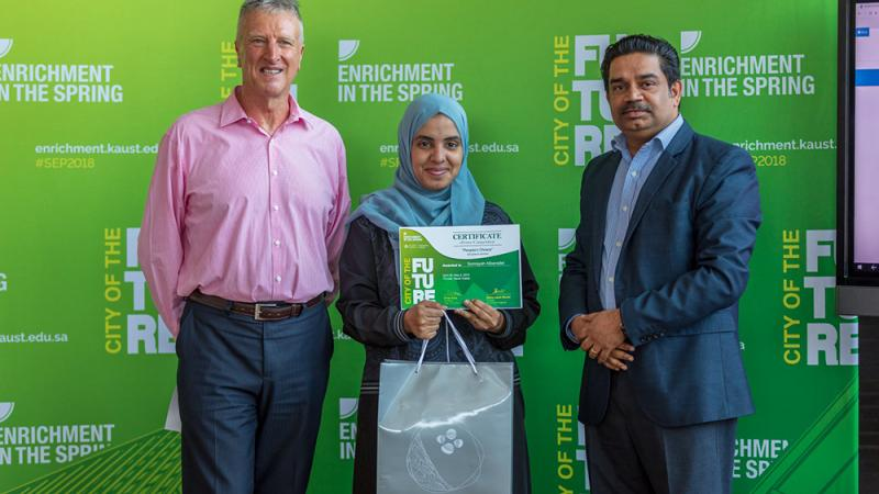 KAUST CEMSE CS CBRC KML Somayah Albaradei First Prize Peoples Choice Category