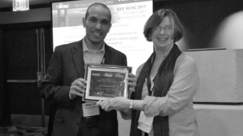 KAUST CEMSE EE CTL Ahmed Bader Bestowed YPs Best Innovation Award At IEEE