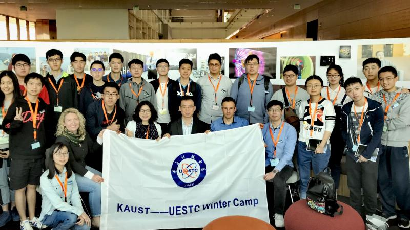 KAUST CEMSE UESTC Students Visit CEMSE Laboratories During One Week Winter Camp At KAUST