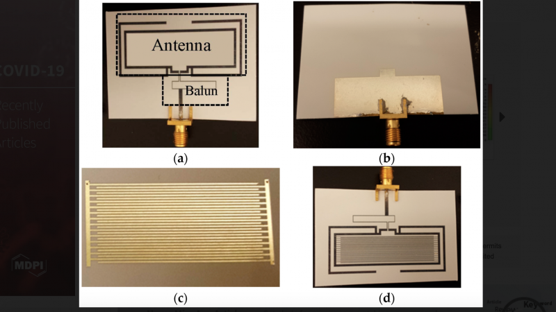 Disposable, paper-based, inkjet-printed humidity and H2S gas sensor for passive sensing applications