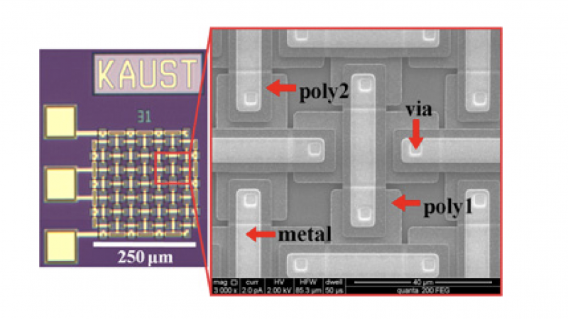 Differential RF MEMS interwoven capacitor immune to residual stress warping