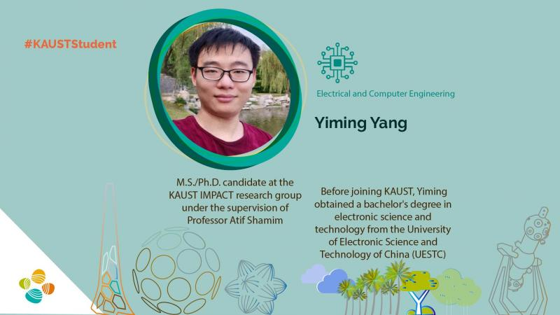 KAUST CEMSE ECE IMPACT Yiming Yang Student Profile
