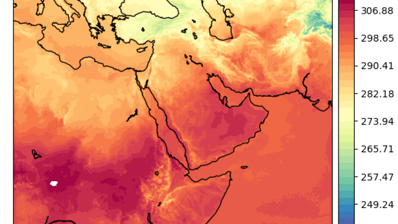 Temperature in the Arabic Peninsula