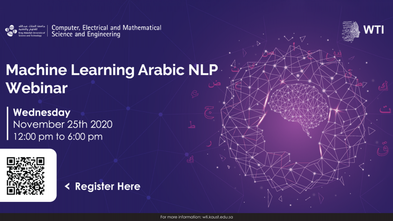 KAUST CEMSE Machine Learning Arabic NLP Webinar