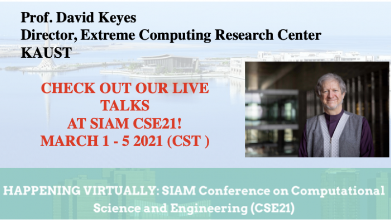 ECRC Live Talks at SIAM CSE21