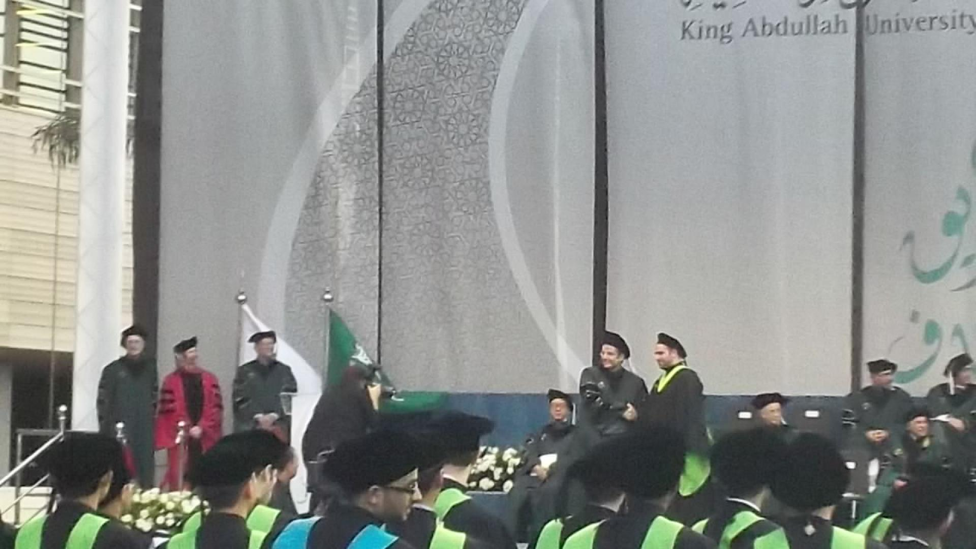 Fakhreddine Gaaloul Receiving Degree From Professor Mohamed-Slim Alouini on His Graduation
