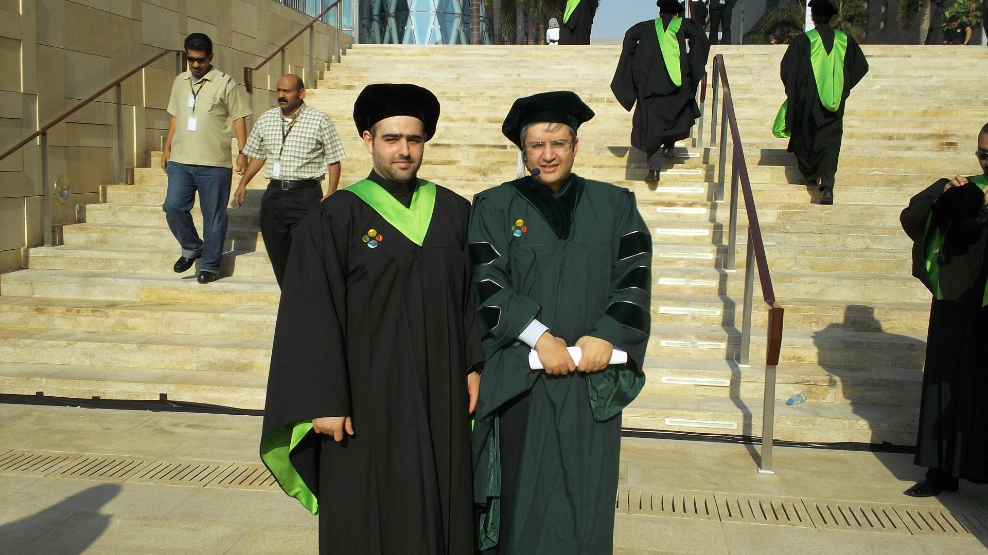 Fakhreddine Gaaloul With Professor Mohamed-Slim Alouini on His Graduation