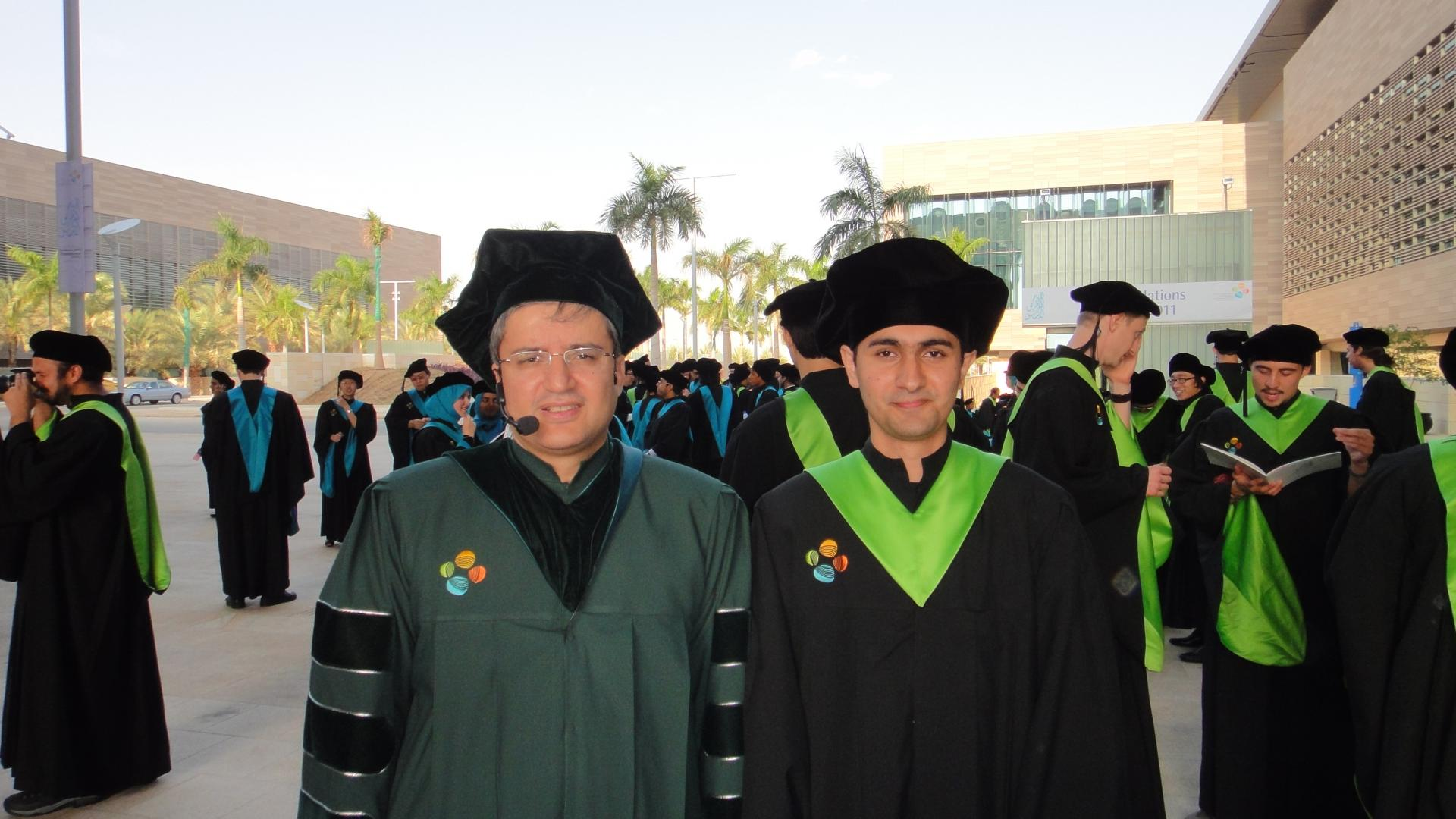 Faraan Rashid With Professor Mohamed-Slim Alouini on His Graduation