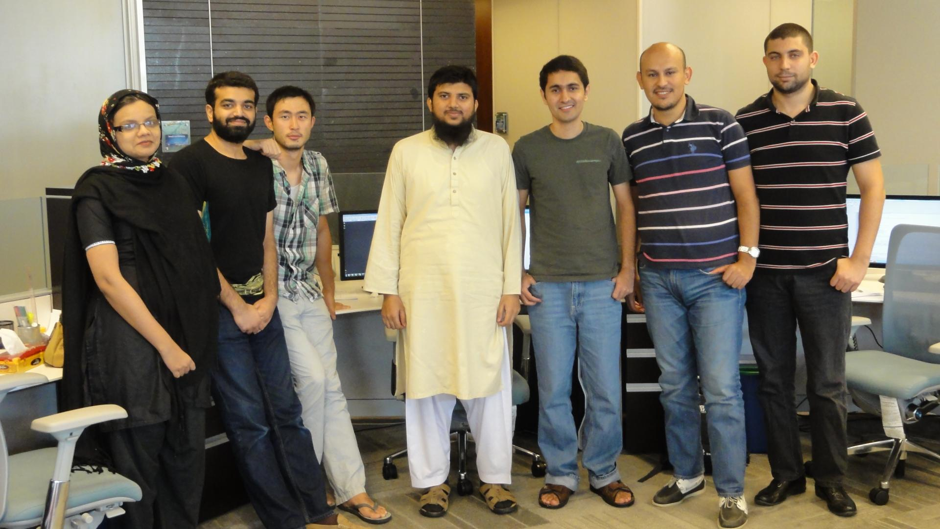 Faraan Rashid With Hina, Ammar, Anlei, Fahd, Mahdi and Hakim on His Farewell