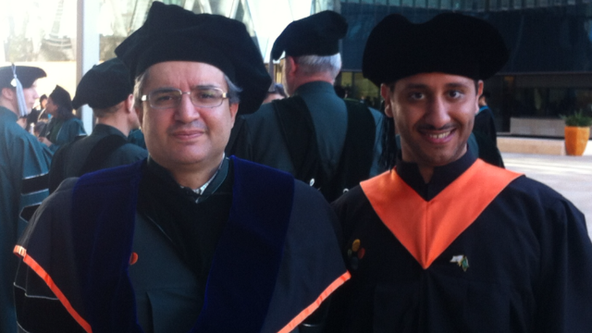 Ibrahim Ramadhan With Professor Mohamed-Slim Alouini On His Graduation