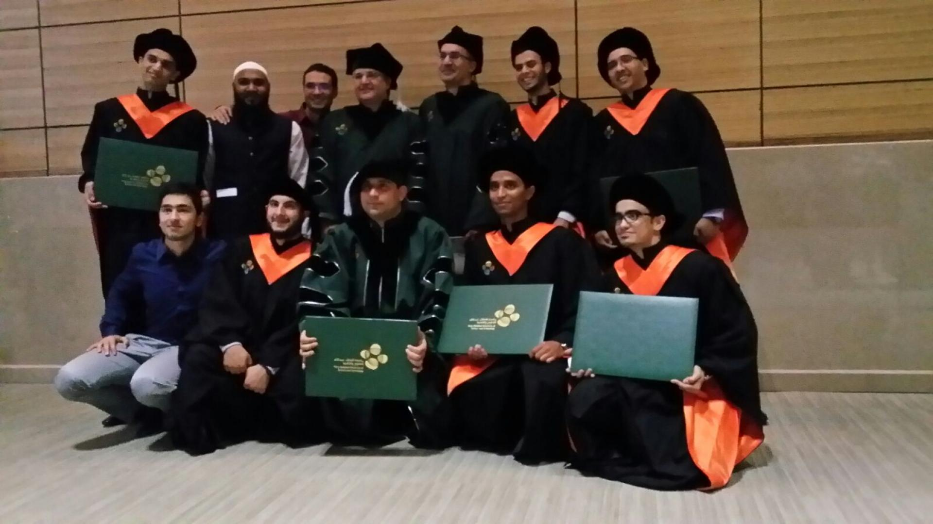 Professor Alouini with graduated Students during Commencement 2015-2