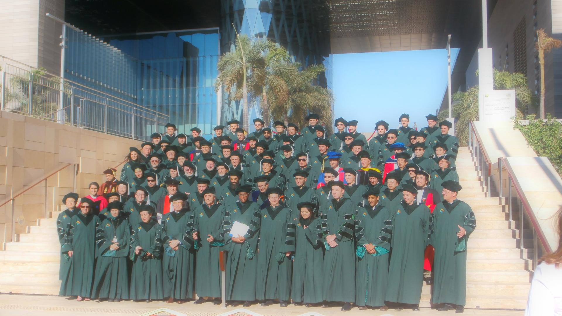 Professor Mohamed-Slim Alouini With Faculty Members at KAUST At Commencement Ceremony Of 2012