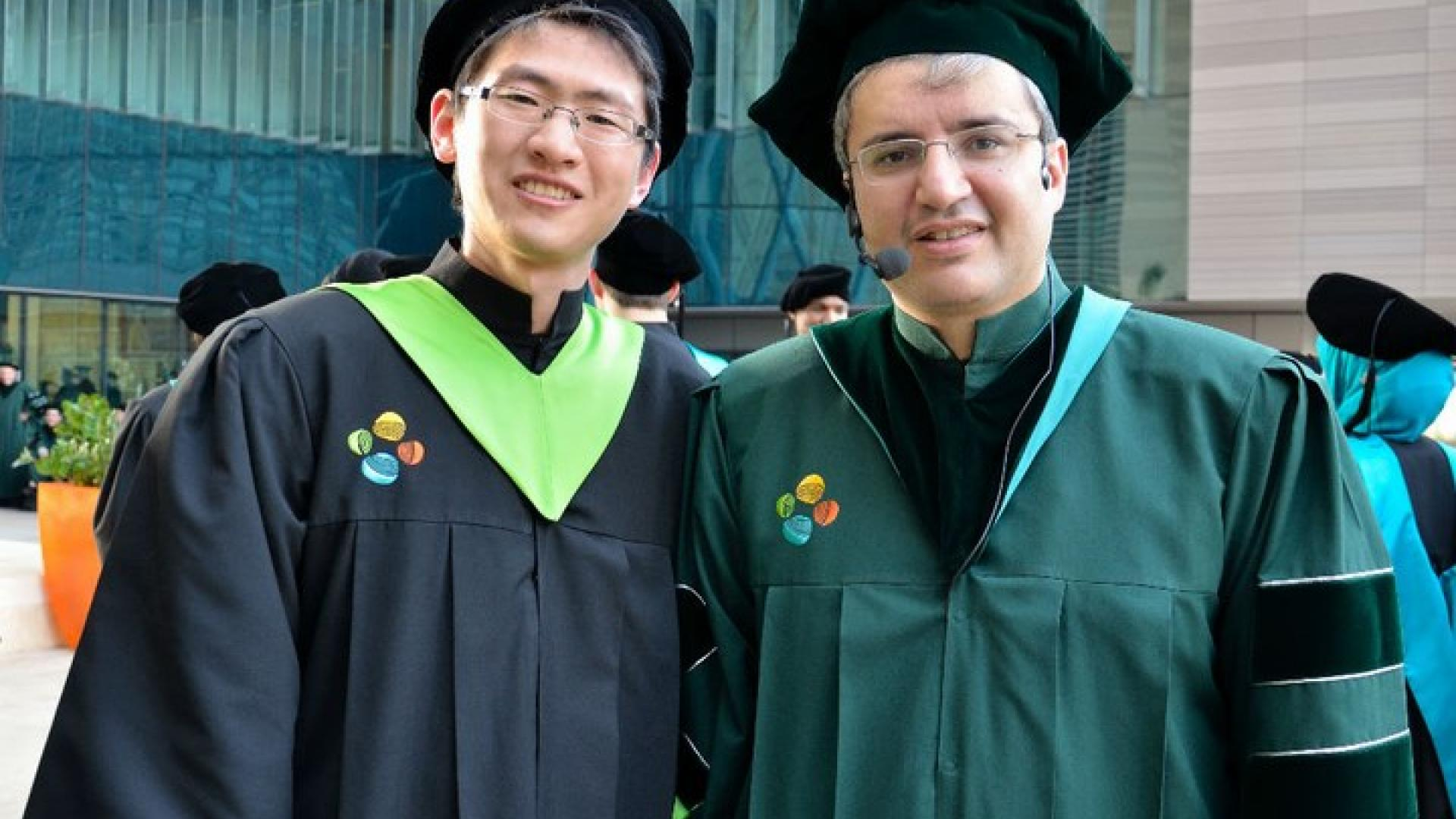 Yao Song With Professor Mohamed-Slim Alouini on His Graduation