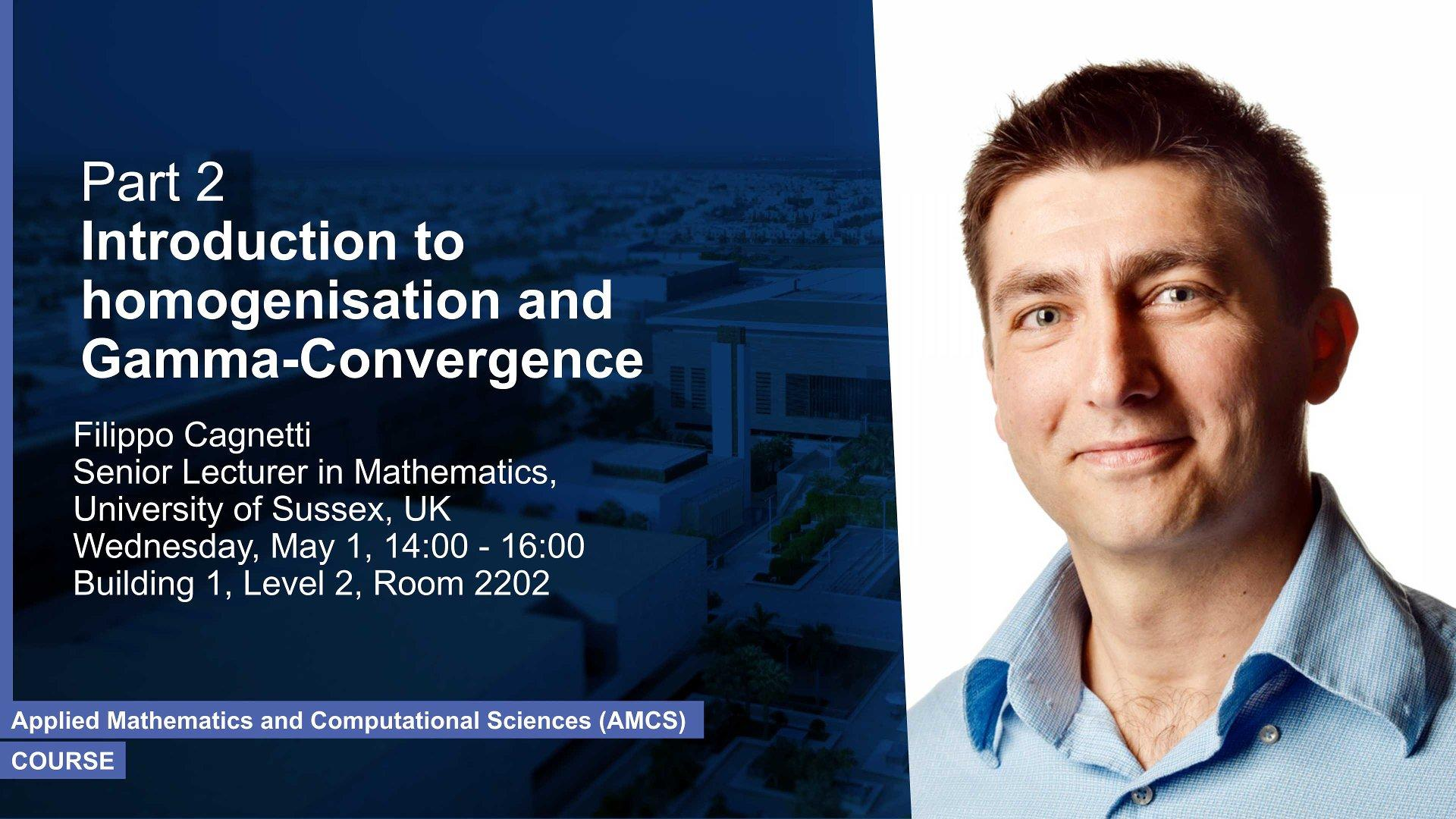 KAUST CEMSE AMCS Course Part 2 Filippo Cagnetti