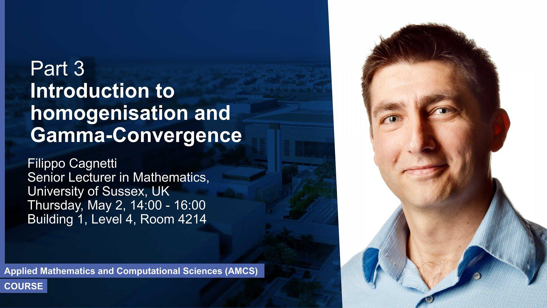 KAUST CEMSE AMCS Course Part 3 Filippo Cagnetti