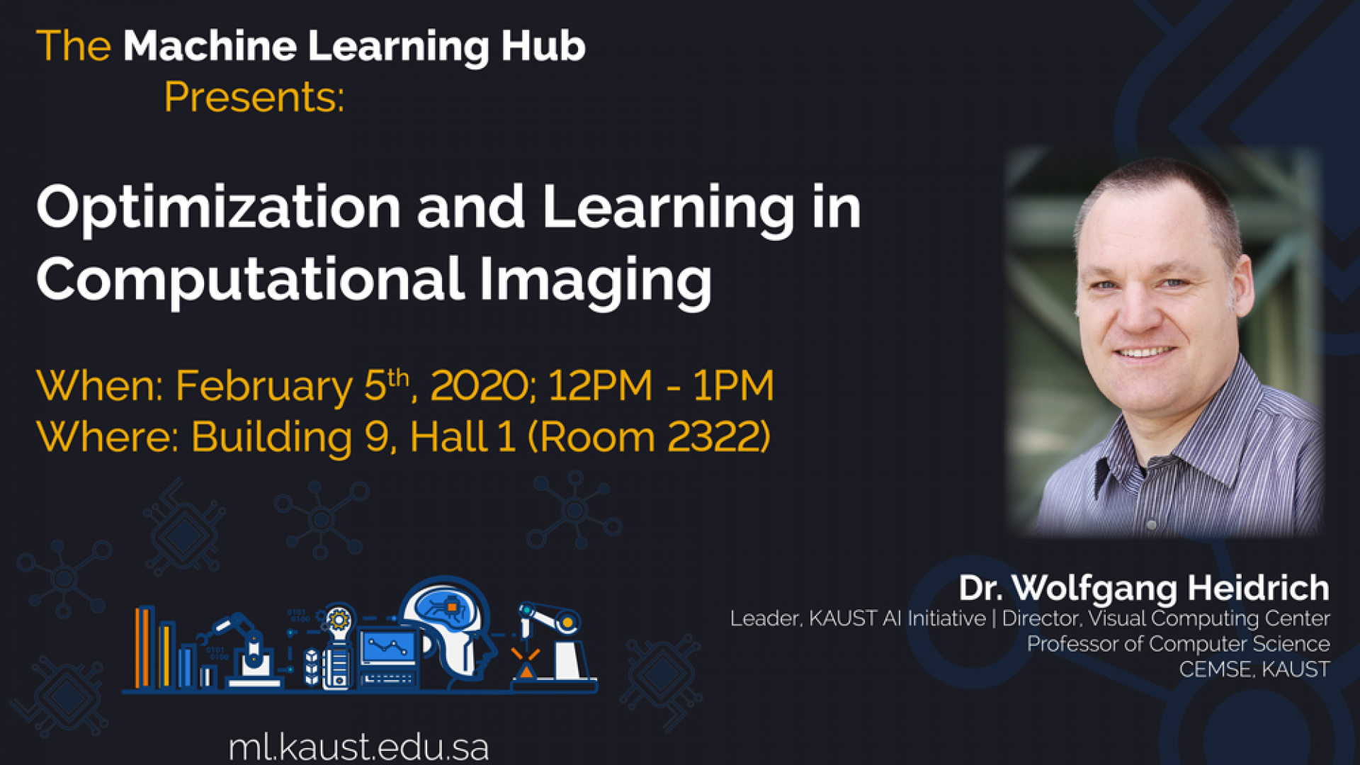 KAUST CEMSE AI ML Hub Seminar Optimization and Learning in ComputationalImaging