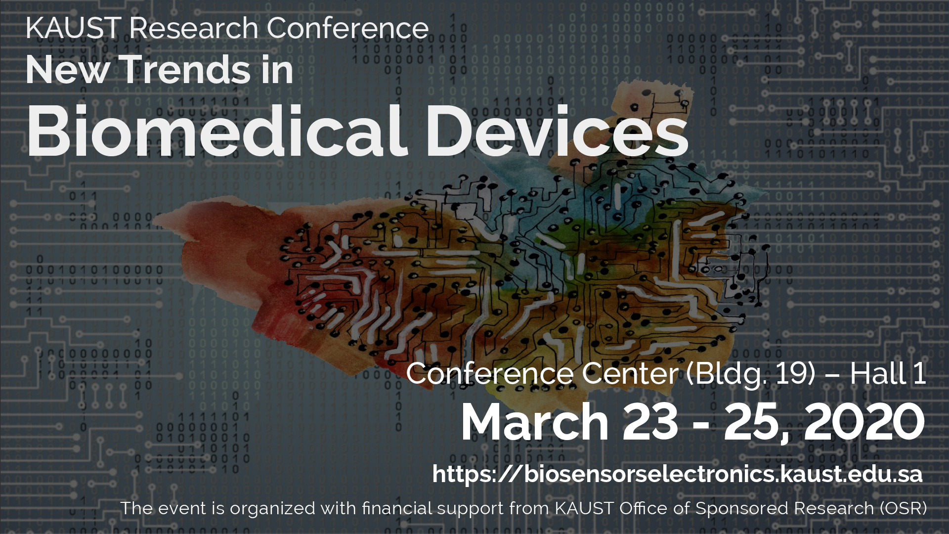 KAUST CEMSE OSR New Trends in Biomedical Devices Conference 2020