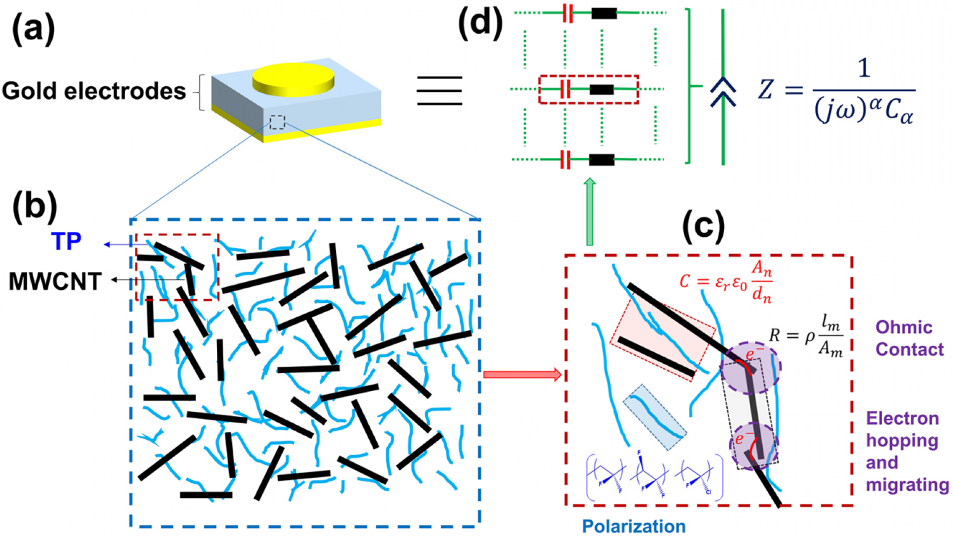 Towards fractional-order capacitors with broad tunable constant phase angles: Multi-walled carbon nanotube-polymer composite as a case study