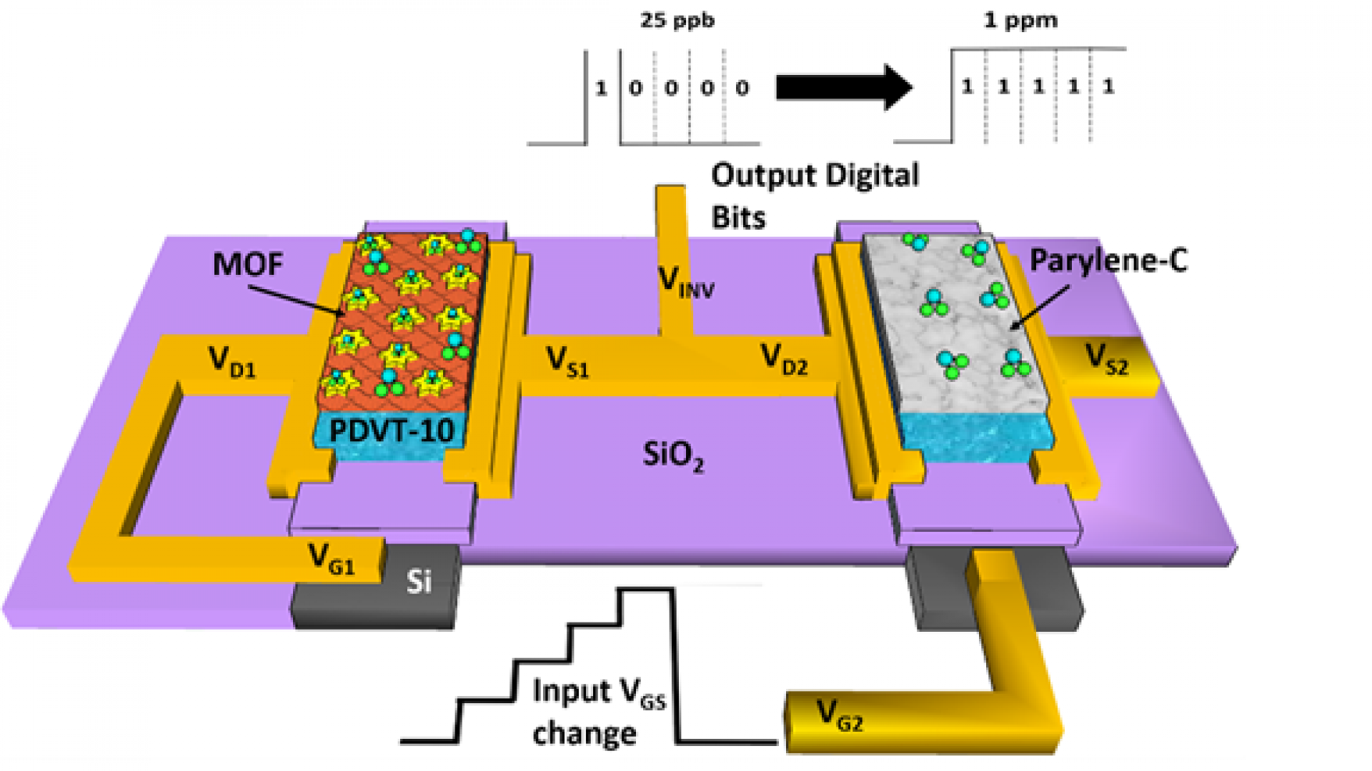 Fully Integrated Organic Field‐Effect Transistor Platform to Detect and to Quantify NO2 Gas