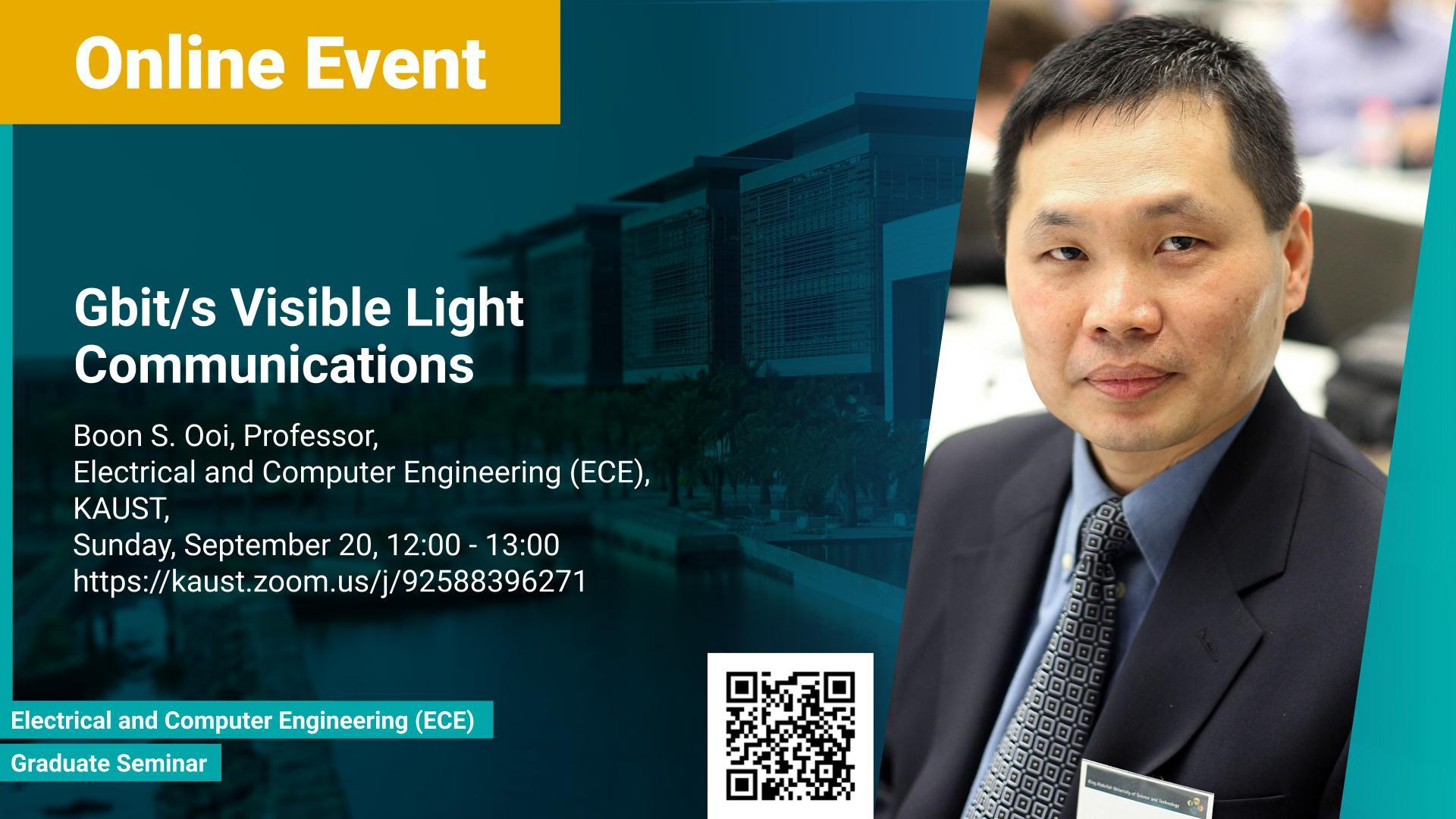 KAUST CEMSE ECE Graduate Seminar Boon S Ooi Gbit Visible Light Communications