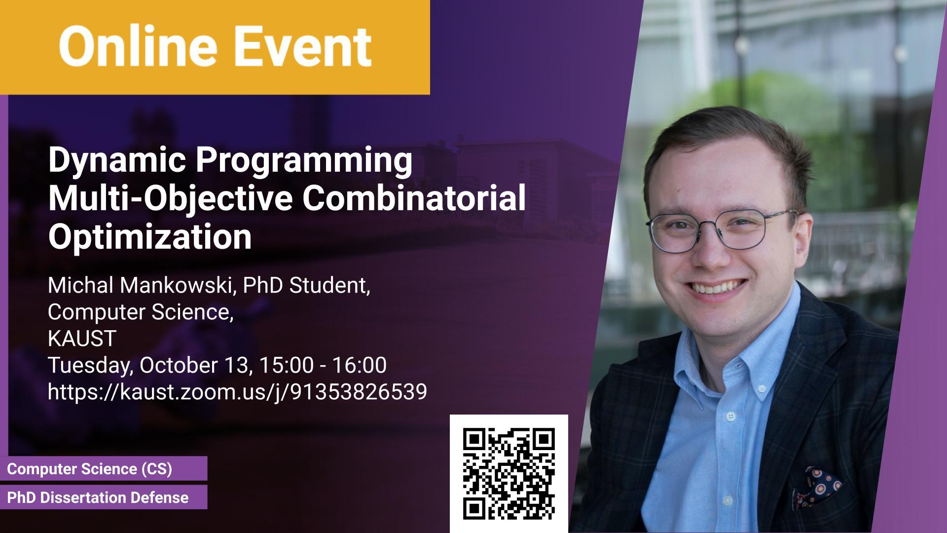 KAUST CEMSE CS PhD Dissertation Defense Michal Mankowski Dynamic Programming Multi Objective Combinatorial Optimization