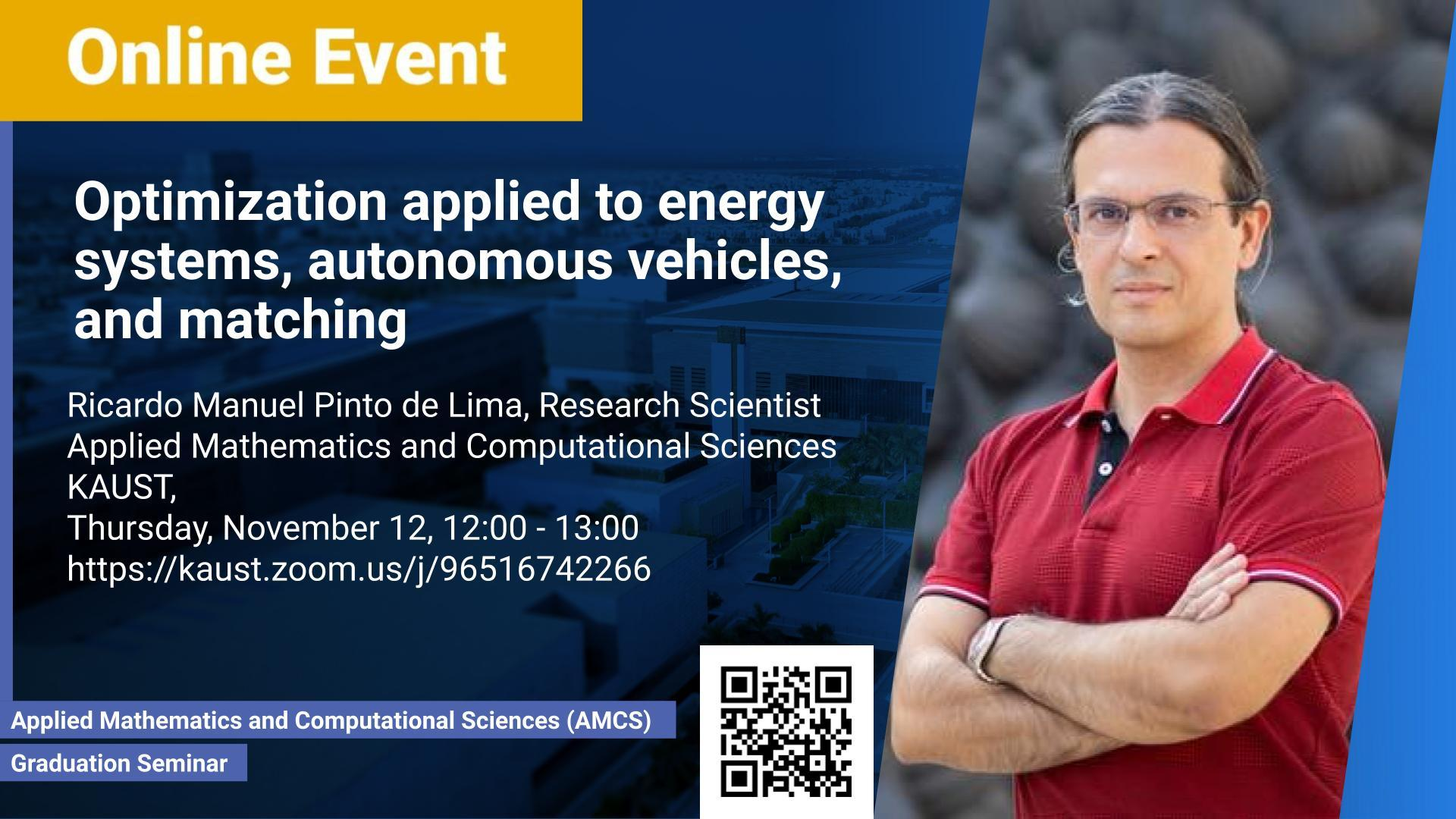 KAUST CEMSE AMCS Ricardo Manuel Pinto de Lima Optimization applied to energy systems