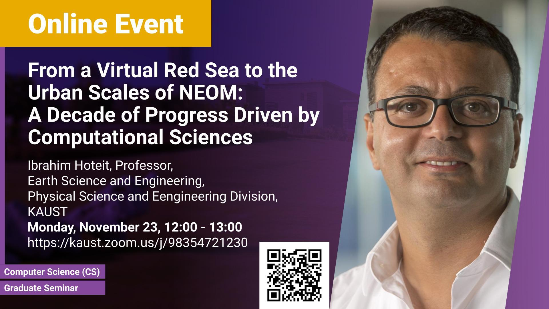 KAUST CEMSE CS Graduate Seminar Ibrahim Hoteit From a Virtual Red Sea to the Urban Scales of NEOM