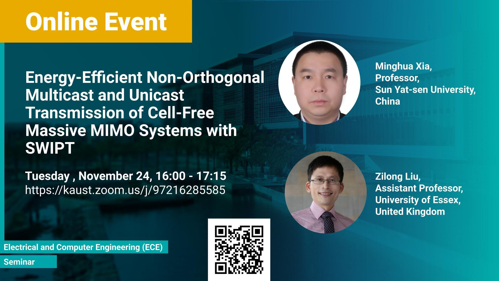 KAUST CEMSE ECE Online Minghua  Xia and Zilong  Liu Cell Free Massive MIMO Systems with SWIPT